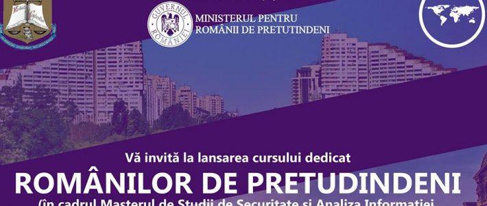 Lansarea cursului dedicat Românilor de Pretutindeni